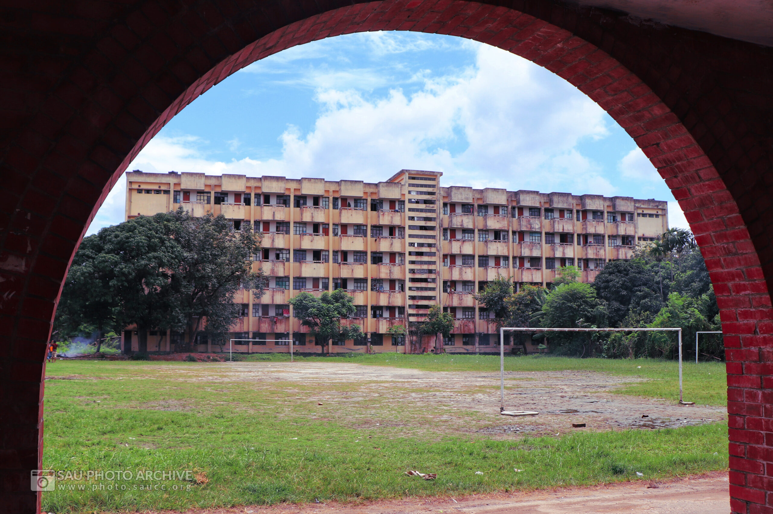 An Architectural photo is captured by Md. Nazmus Sakib Anik at Sher-e-Bangla Agricultural University titled One Hall to Another