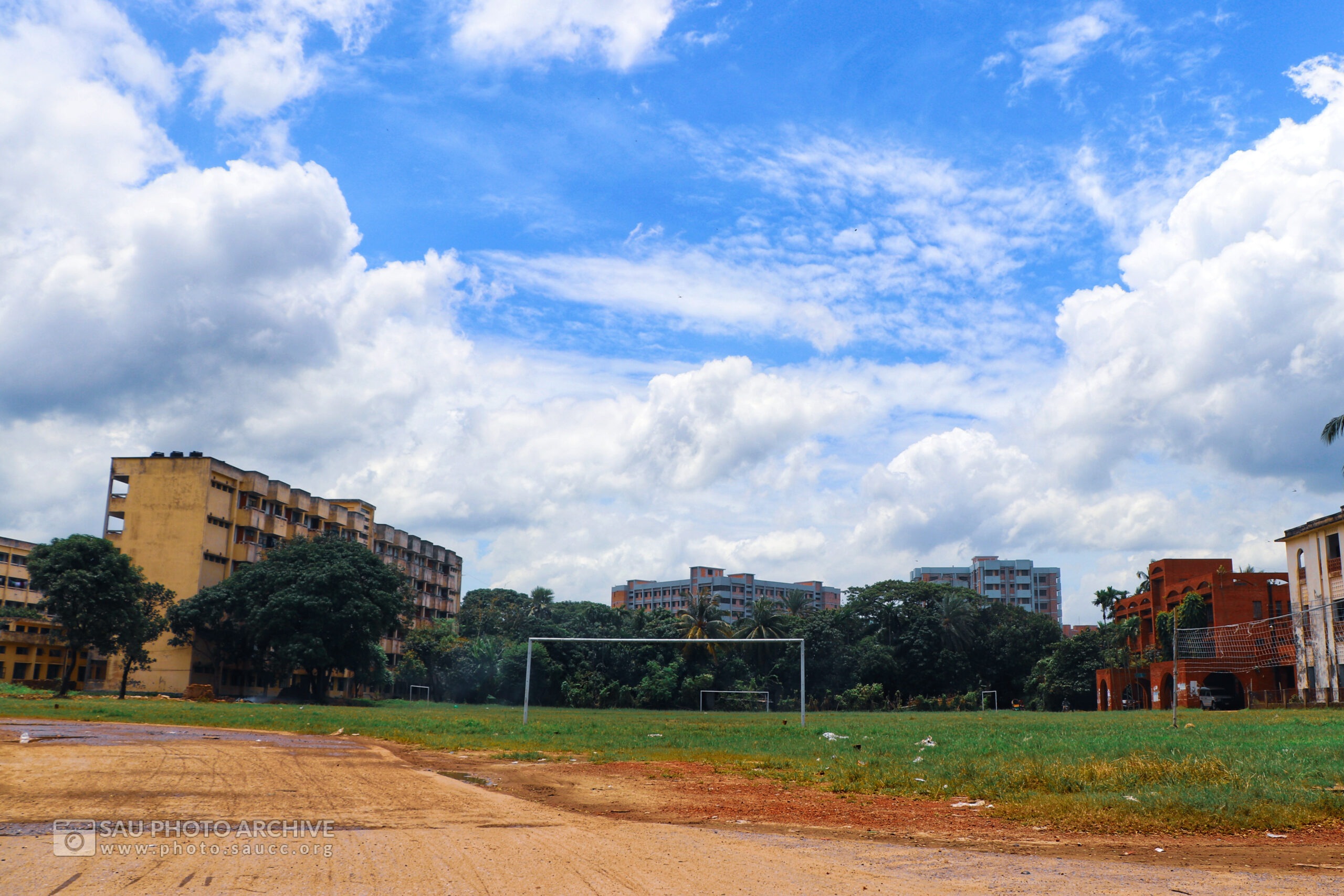 A Scenic photo is captured by Md. Nazmus Sakib Anik at Sher-e-Bangla Agricultural University titled Central Play Ground